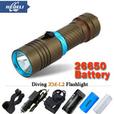 5000 lumens LED Torch Underwater Diving Light