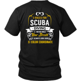 District Unisex Shirt -Back Printed Only - 3 Rules of Scuba