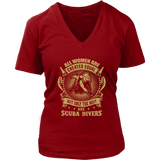 District Womens V-Neck - Front Printed Only - All women are created equal