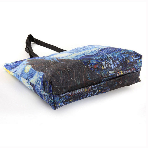Van Gogh Starry Night Sky Printed Tote Bags