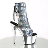 Pleaser - ADORE-1018MSC - Silver Hologram/Silver Chrome - Platforms (Exotic Dancing)