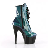 Pleaser - ADORE-1020SHG - Purple-Green/Black - Platforms (Exotic Dancing)