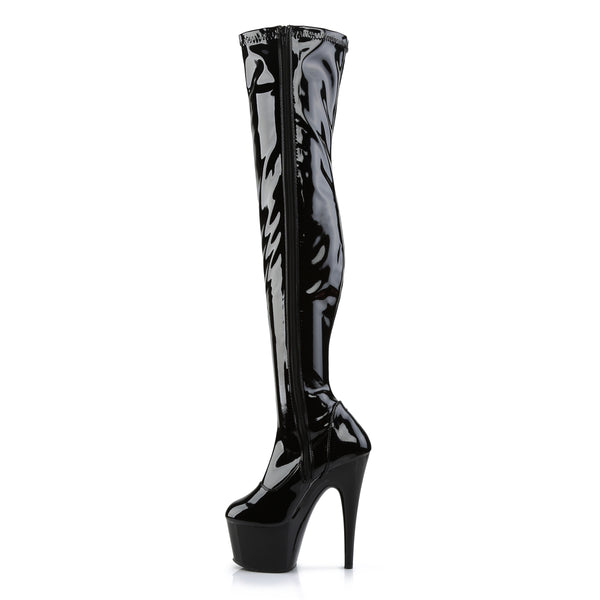 Pleaser - ADORE-3000 - Black Str Patent/Black - Platforms (Exotic Dancing)
