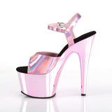 Pleaser - ADORE-709HGCH - Black  Pink Hologram/Black  Pink Chrome - Platforms (Exotic Dancing)