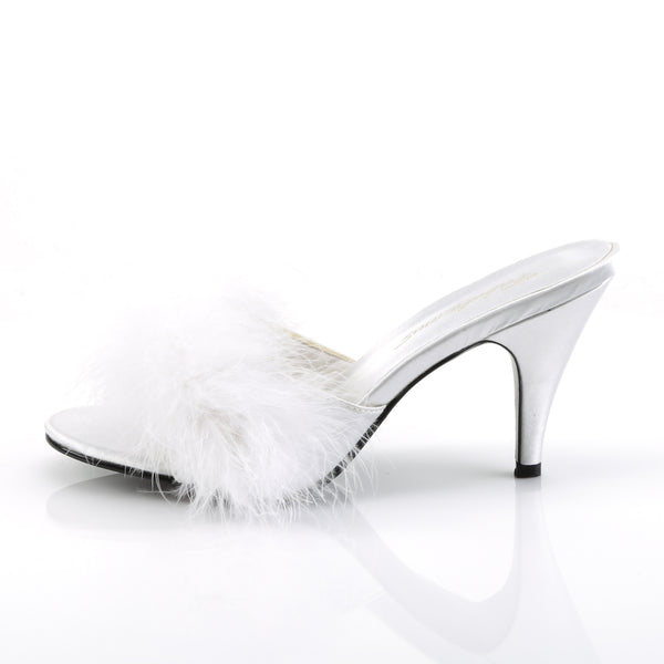 Fabulicious - AMOUR-03 - White Satin-Fur - Shoes
