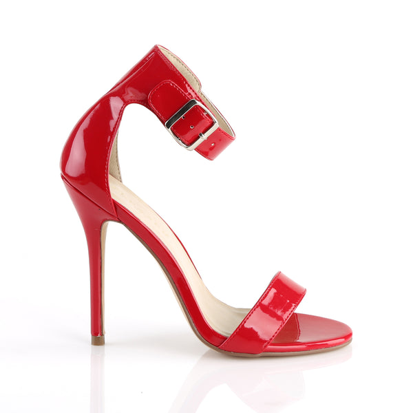 Pleaser - AMUSE-10 - Red Patent