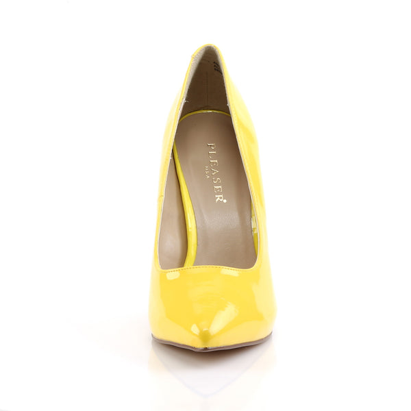 Pleaser - AMUSE-20 - Neon Yellow Patent