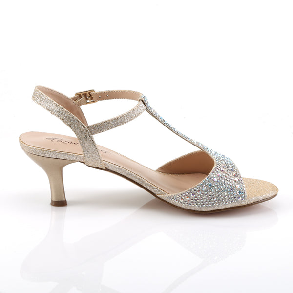 Fabulicious - AUDREY-05 - Nude Shimmering Fabric - Shoes