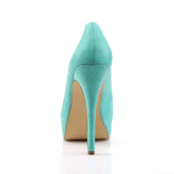 Pin Up Couture - BELLA-30 - Teal Faux Leather - Platforms