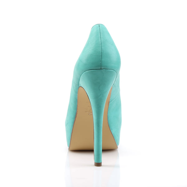 Pin Up Couture - BELLA-30 - Teal Faux Leather
