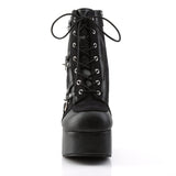 Demonia - CHARADE-100 - Black Vegan Leather-Suede - Women's Ankle Boots