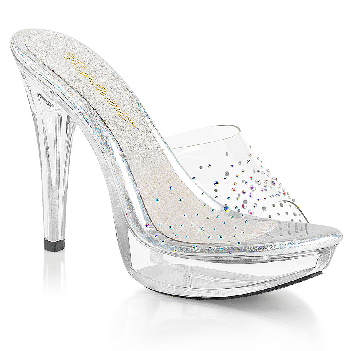 Fabulicious - COCKTAIL-501SD - Clear/Clear - Shoes