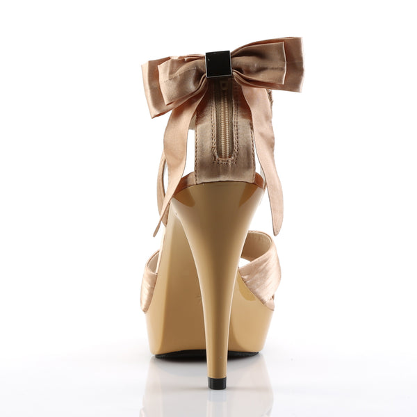 Fabulicious - COCKTAIL-568 - Champagne Satin/Champagne - Shoes