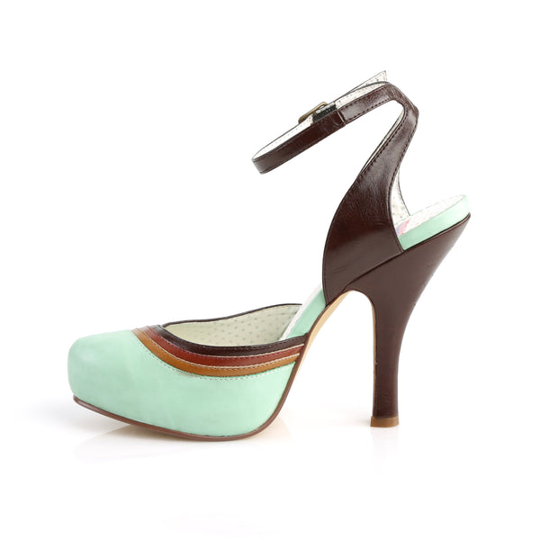 Pin Up Couture - CUTIEPIE-01 - Mint Multi Faux Leather - Platforms
