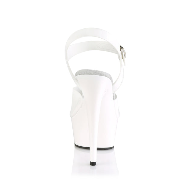 Pleaser - DELIGHT-608N - White (Jelly-Like) TPU/White