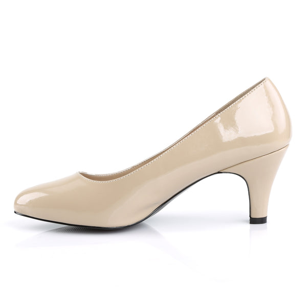 Pleaser Pink Label - DIVINE-420 - Cream Patent - Single Soles