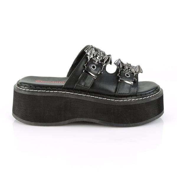 Demonia - EMILY-100 - Black Vegan Leather - Women's Sandals