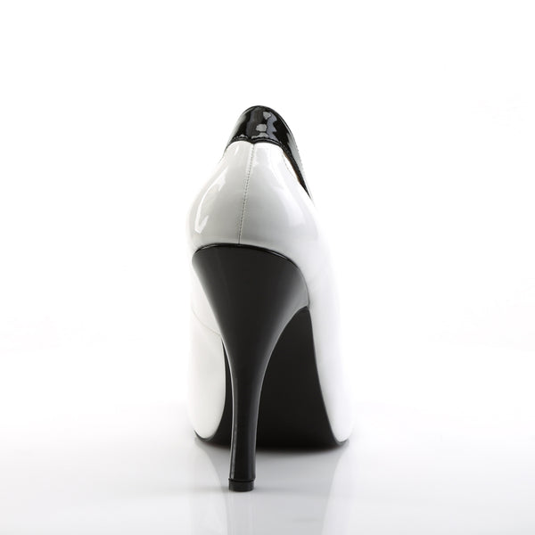 Pleaser Pink Label - EVE-07 - White-Black Patent