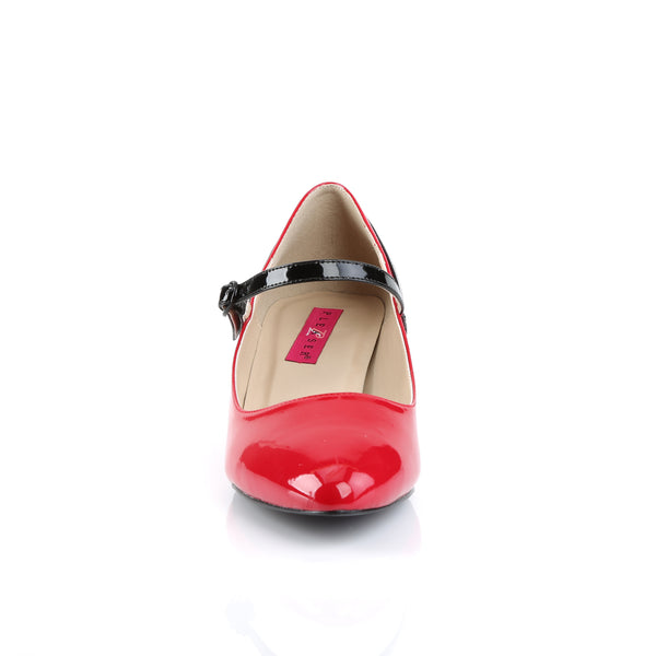 Pleaser Pink Label - FAB-425 - Red-Black Patent - Single Soles