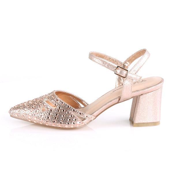Fabulicious - FAYE-06 - Rose Gold Shimmering Fabric - Shoes
