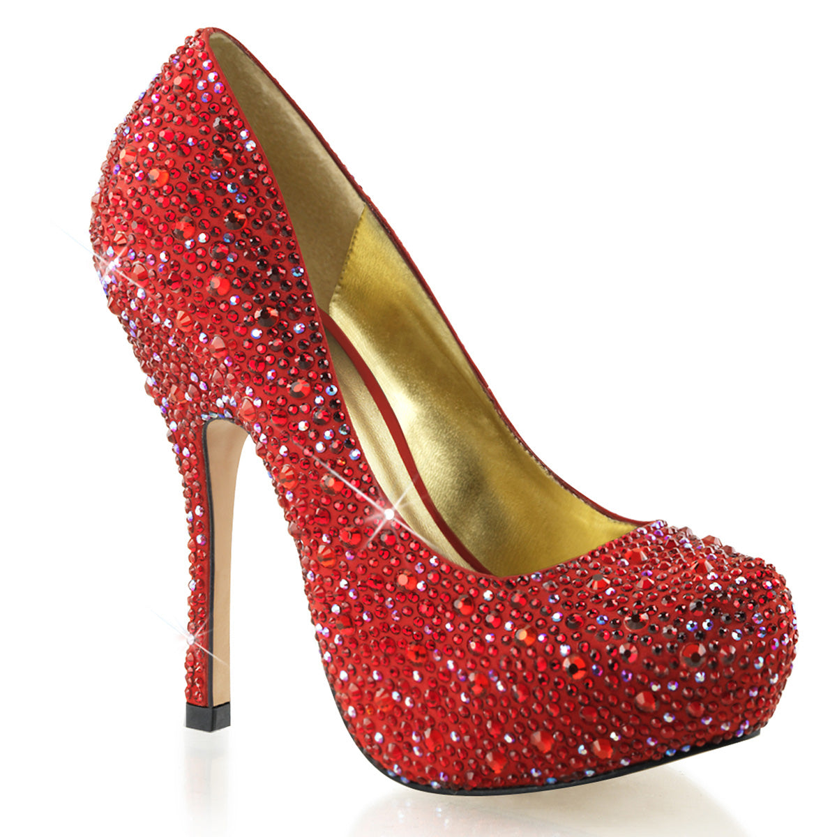 Fabulicious - FELICITY-20 - Red Satin - Shoes