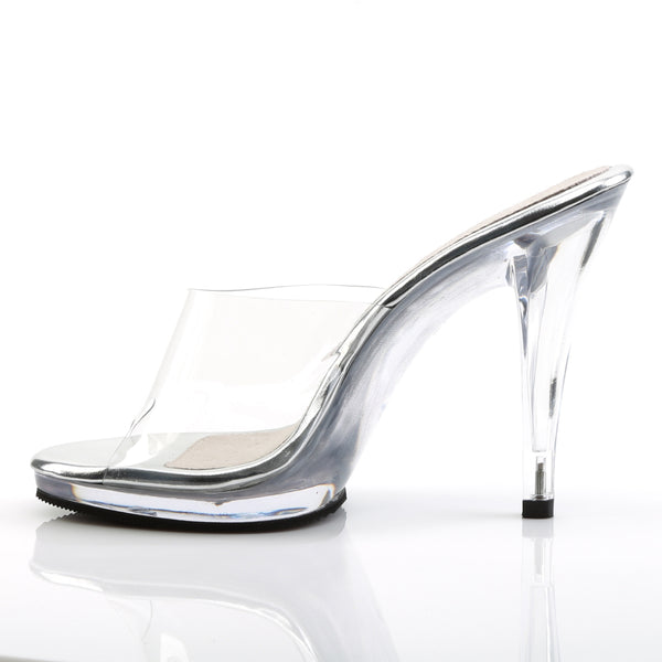 Fabulicious - FLAIR-401 - Clear/Clear - Shoes