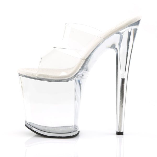 Pleaser - FLAMINGO-802 - Clear/Clear - Platforms (Exotic Dancing)