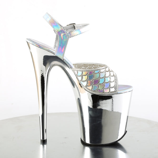 Pleaser - FLAMINGO-809MMRS - Silver Hologram/Silver Chrome