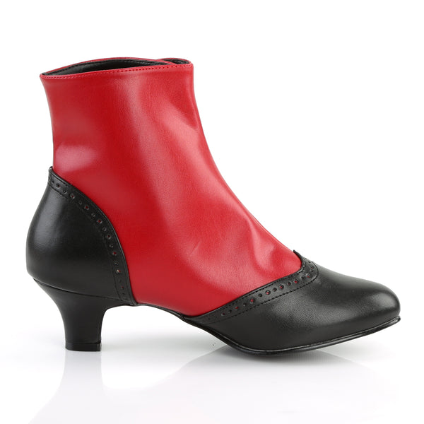 Bordello - FLORA-1023 - Red-Black Pu - Boots