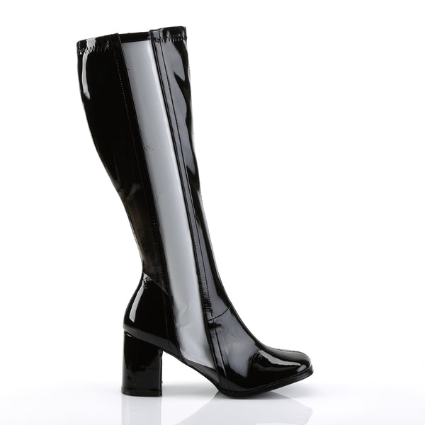 Funtasma - GOGO-303 - Black Str Patent-Clear Tpu - Women's Boots