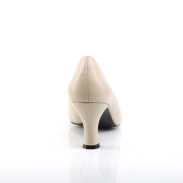 Pleaser Pink Label - JENNA-01 - Cream Faux Leather
