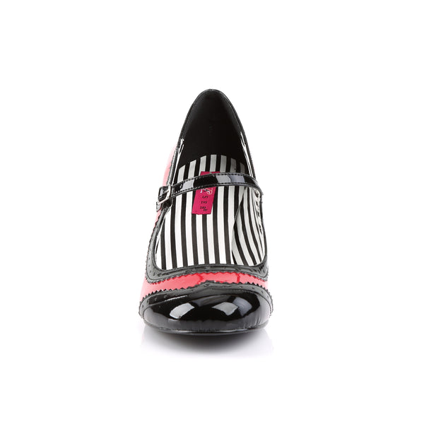 Pleaser Pink Label - JENNA-06 - Red-Black Patent - Single Soles