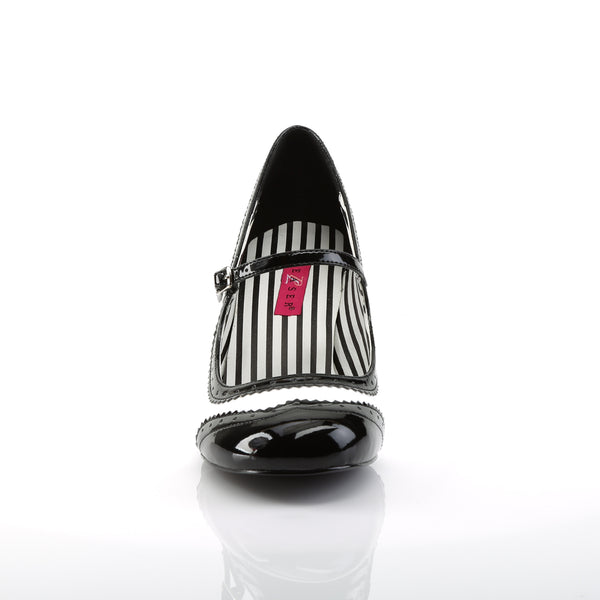 Pleaser Pink Label - JENNA-06 - White-Black Patent