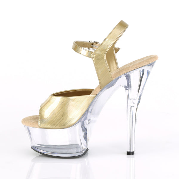 Pleaser - KISS-209BHG - Champagne Brushed Hologram/Clear