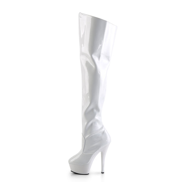 Pleaser - KISS-3010 - White Patent/White