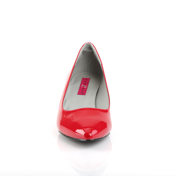 Pleaser Pink Label - KITTEN-01 - Red Patent - Single Soles