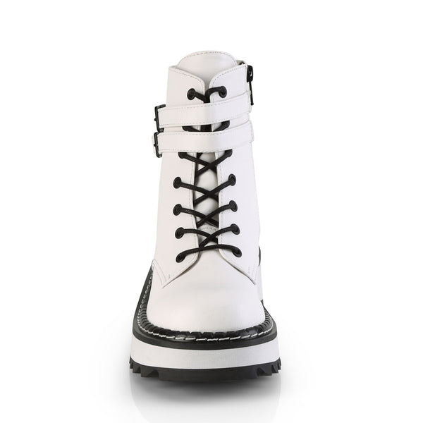 Demonia - LILITH-152 - White Vegan Leather - Women's Ankle Boots