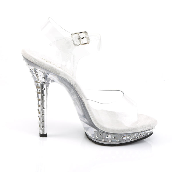 Fabulicious - LIP-108SDT - Clear/Clear - Shoes