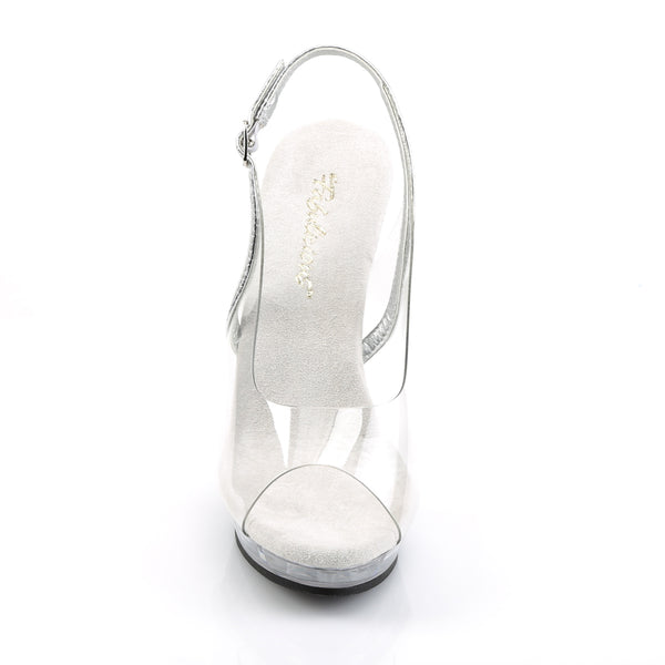 Fabulicious - LIP-150 - Clear-Silver/Clear - Shoes