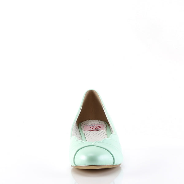 Pin Up Couture - LULU-05 - Mint Faux Leather - Single Soles