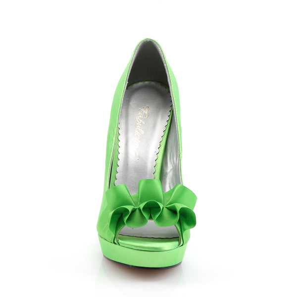 Fabulicious - LUMINA-42 - Apple Green Satin - Shoes