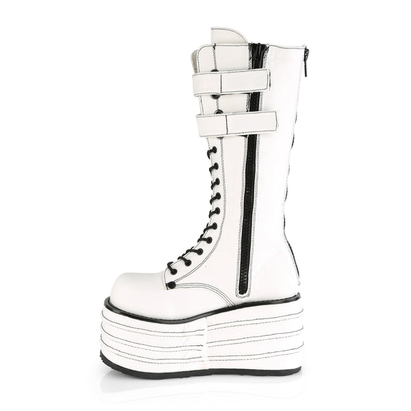 Demonia - MORI-310 - White Canvas - Women's Mid-Calf & Knee High Boots