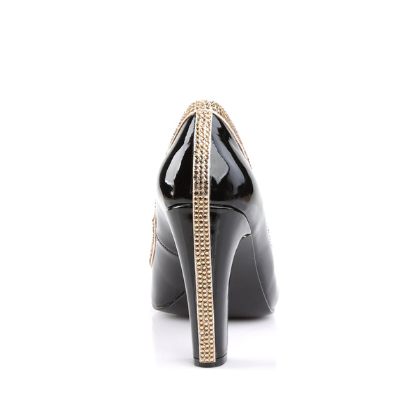 Pleaser Pink Label - QUEEN-04 - Black Patent