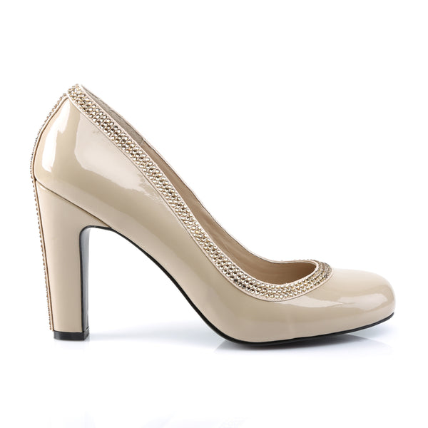 Pleaser Pink Label - QUEEN-04 - Cream Patent