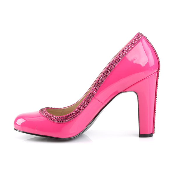 Pleaser Pink Label - QUEEN-04 - Hot Pink Patent