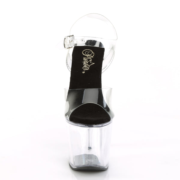 Pleaser - RADIANT-708 - Clear-Black/Clear