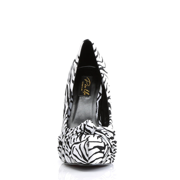 Pin Up Couture - SAFARI-06 - Black-White Zebra Print Velvet