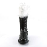 Funtasma - SANTA-100 - Black Pu-White Faux Fur - Men's Boots