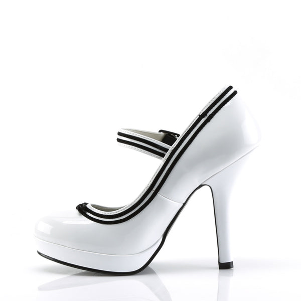 Pin Up Couture - SECRET-15 - White Patent