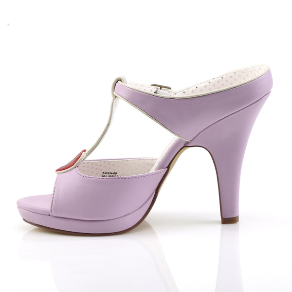 Pin Up Couture - SIREN-09 - Lavender Faux Leather - Platforms